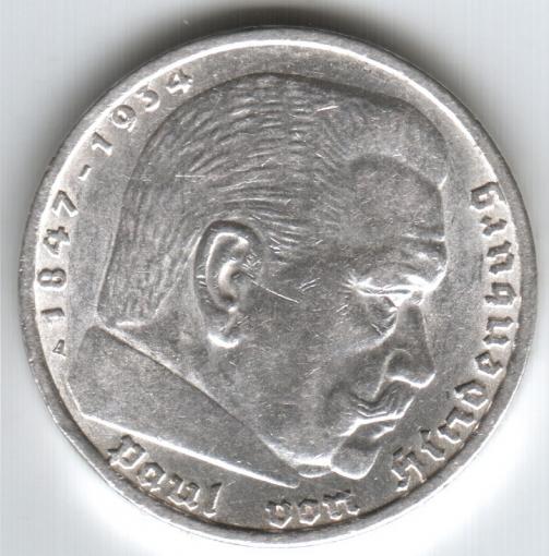 Немецкая монета 1936 года 5 рейхсмарок цена банкноты мексики